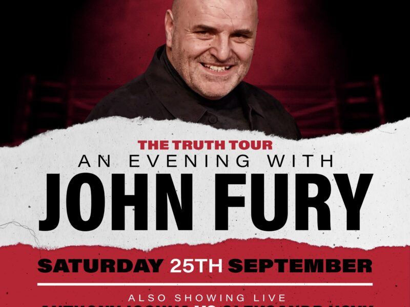 The Ultimate Boxing Fan Experience, Anthony Joshua v Oleksandr Usyk Fight Live on the BIG screen, Plus an evening with special guest John Fury