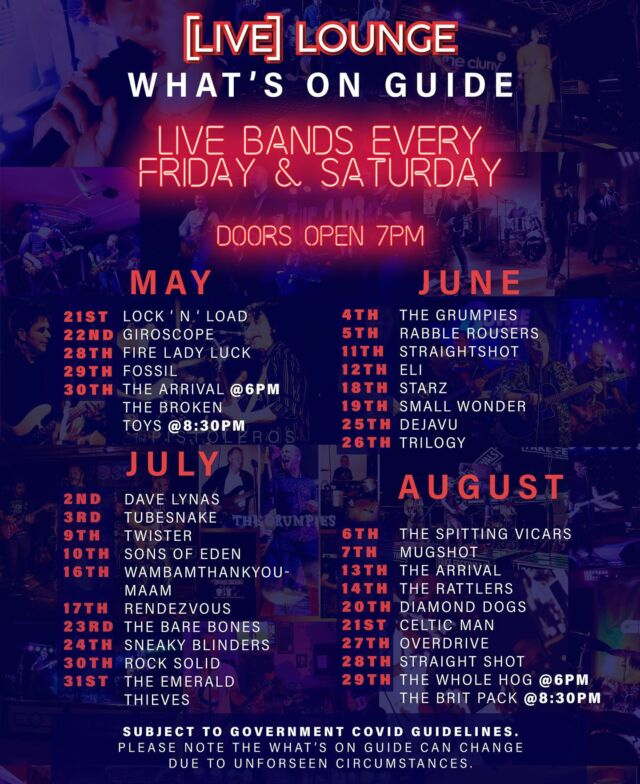 What's On at Live Lounge #livemusic #events #grassrootsmusicvenues
